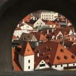 Tiled roofs in Cesky Krumlov, South Bohemia — Stock Photo #63557967