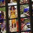 Last Judgment. Art Nouveau stained glass window. — Foto de Stock   #63558127
