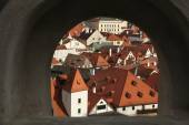 Tiled roofs in Cesky Krumlov, South Bohemia — Stock Photo