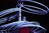 Hula hoop juggler Alexandra Soboleva  — Stock Photo