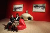 Salvador Dali exhibition in the Pompidou Centre, Paris. — Stock Photo