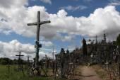 Wzgórze krzyży na litwie. — Zdjęcie stockowe