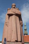 Monument for the Latvian Riflemen in Riga — Stock Photo