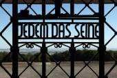 Nazi motto Jedem das Seine — Stock Photo