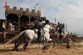 Filming of movie The Knights — Stock Photo