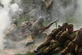 Re-enactment of WWII Battle, Orechov — Stock Photo