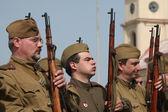 Re-enactment of  WWII Battle,Orechov — Stock Photo
