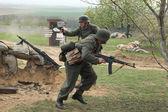 Re-enactment of WWII Battle, Orechov — Stock Photo