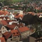 Tiled roofs in Cesky Krumlov — Stock Photo #64509603