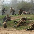 Постер, плакат: Re enactment of WWII Battle at Orechov
