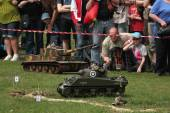 Re-enactment of WWII Battle at Orechov — Stock Photo
