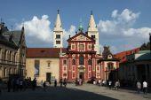 Saint George Basilica at Prague Castle — Stock Photo