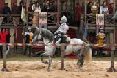 Filming of new movie The Knights — Stock Photo