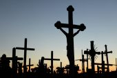 Hill of Crosses in Lithuania. — Stock Photo