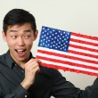 Student showing US flag — Stock Photo #69897423
