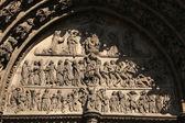 Yttersta domen på gotiska portalen — Stockfoto