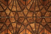 Wooden vaulted ceiling — Stock Photo