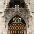 Coat of arms of Munich on the Neues Rathaus — Stock Photo #70915599