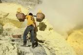 Sulphur mines Kawah Ijen in East Java — Stock Photo