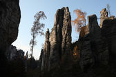 The Prachov Rocks in Central Bohemia — Stock Photo