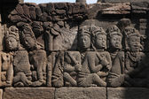 Bas reliefs from the Borobudur Temple — Stock Photo