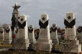Soviet War Memorials at the Cemeter — Stock Photo