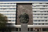 Karl Marx Monument in Chemnitz, — Stock Photo