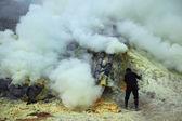 Sulphur mines Kawah Ijen — Stock Photo
