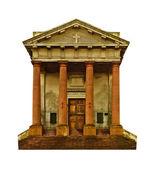 Greek Style Christian Church Facade — Stock Photo