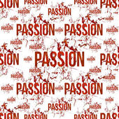 Passion Typographic Grunge Design Pattern — Stock Photo