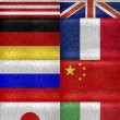 G8 Grunge Style Flags Pattern — Stock Photo #54185253