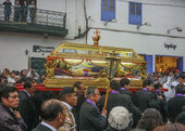 Easter Procession of the Lord of Tremors in Cusco — Stok fotoğraf