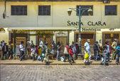 Cusco Stop Bus — Stock Photo