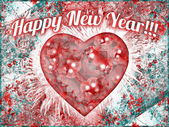 Vintage Colorful Happy New Year Design — Stock Photo