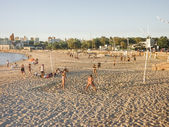 Sports at the Beach in Montevideo — Stock Photo