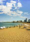 Summer at the Beach in Punta del Este — Stock Photo