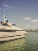 Yacht at Punta del Este Port — Stock Photo