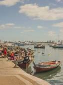 Fishermen at Punta del Este Port — Stock Photo