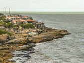 Mar del Plata Coast Low Angle View — Stockfoto