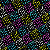 Love Till Die Typographic Quote Pattern — Stock Photo