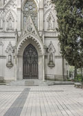 Neo Gothic Style Chapel Entrance — Stock Photo