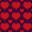 Hearts with Stars Grunge Style Pattern — Stock Photo #64962007