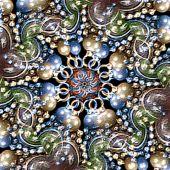 Multicolor Ornament Fancy Background — Stock Photo