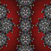Decorative Jewels Collage Background — Foto Stock