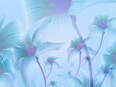 Lilies Collage Background — Photo