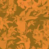 Lilies Motif Vintage Floral Pattern — Stock Photo
