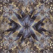 Çok renkli Floral Swirls dekoratif arka plan — Stok fotoğraf