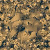 Elegant Floral Pattern in Dull Brown Tones — Photo