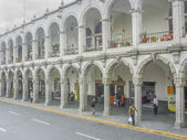 Plaza de Armas of Arequipa Architecture — Stock Photo
