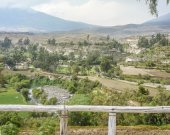 Misti Volcano and Arequipa Outsides from a Gazer — Stock Photo